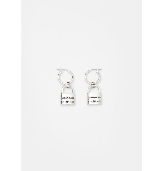 Cuffin' SZN Lock Earrings