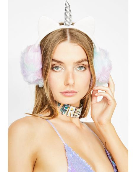 Wonderland Magic Unicorn Earmuffs