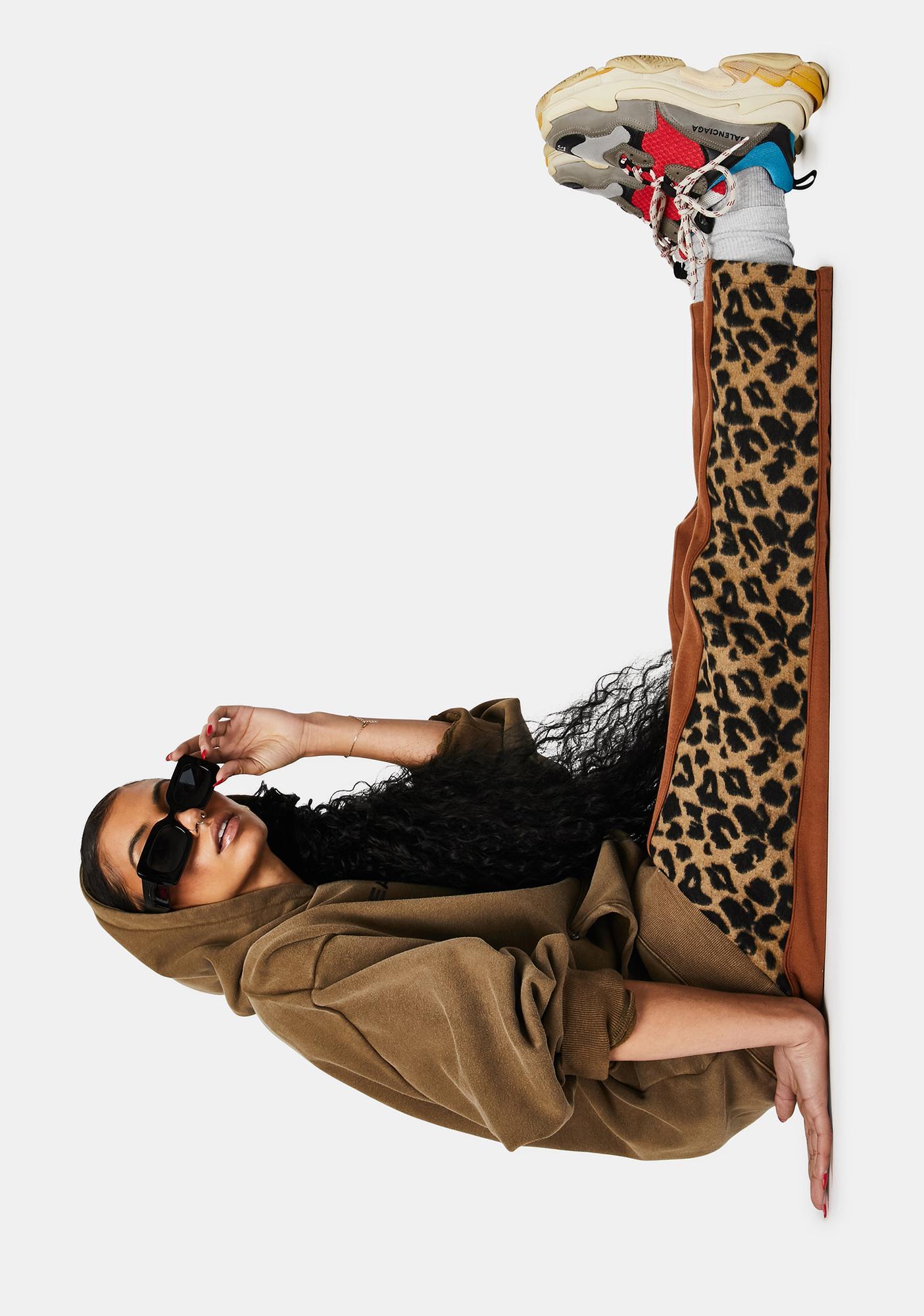 Pleasures Memories Leopard Velour Pants