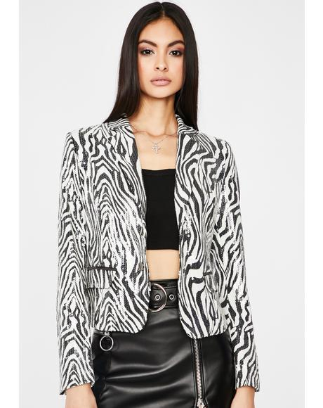 Runnin' Wild Sequin Blazer