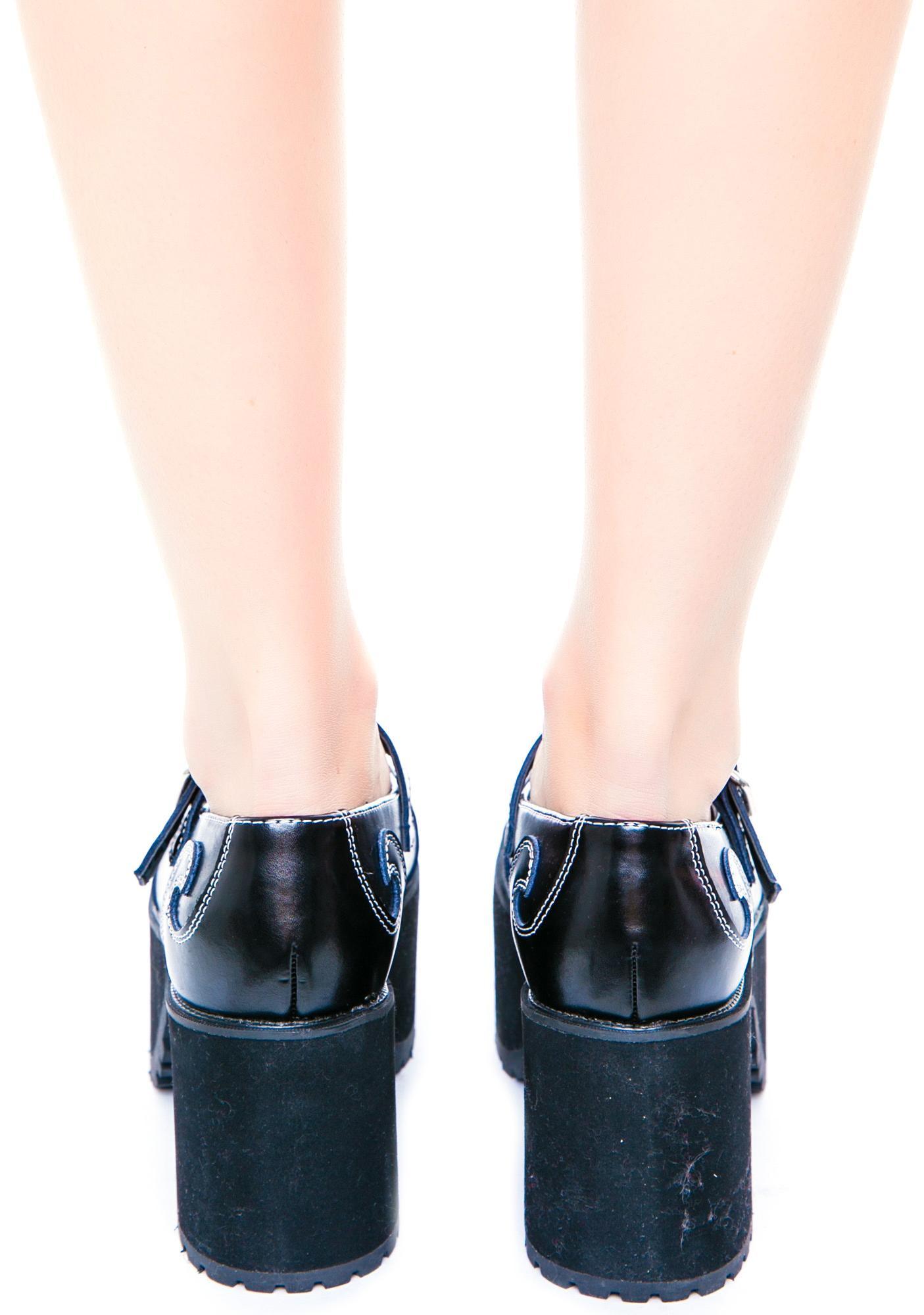 T.U.K. Swirl Mary Jane Nosebleed Heels
