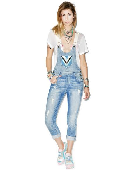 The Chloe Slouchy Skinny Overalls
