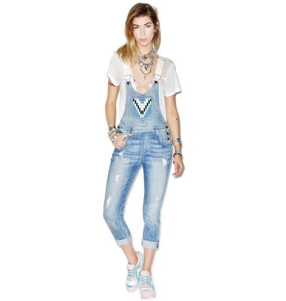 Wildfox Couture The Chloe Slouchy Skinny Overalls