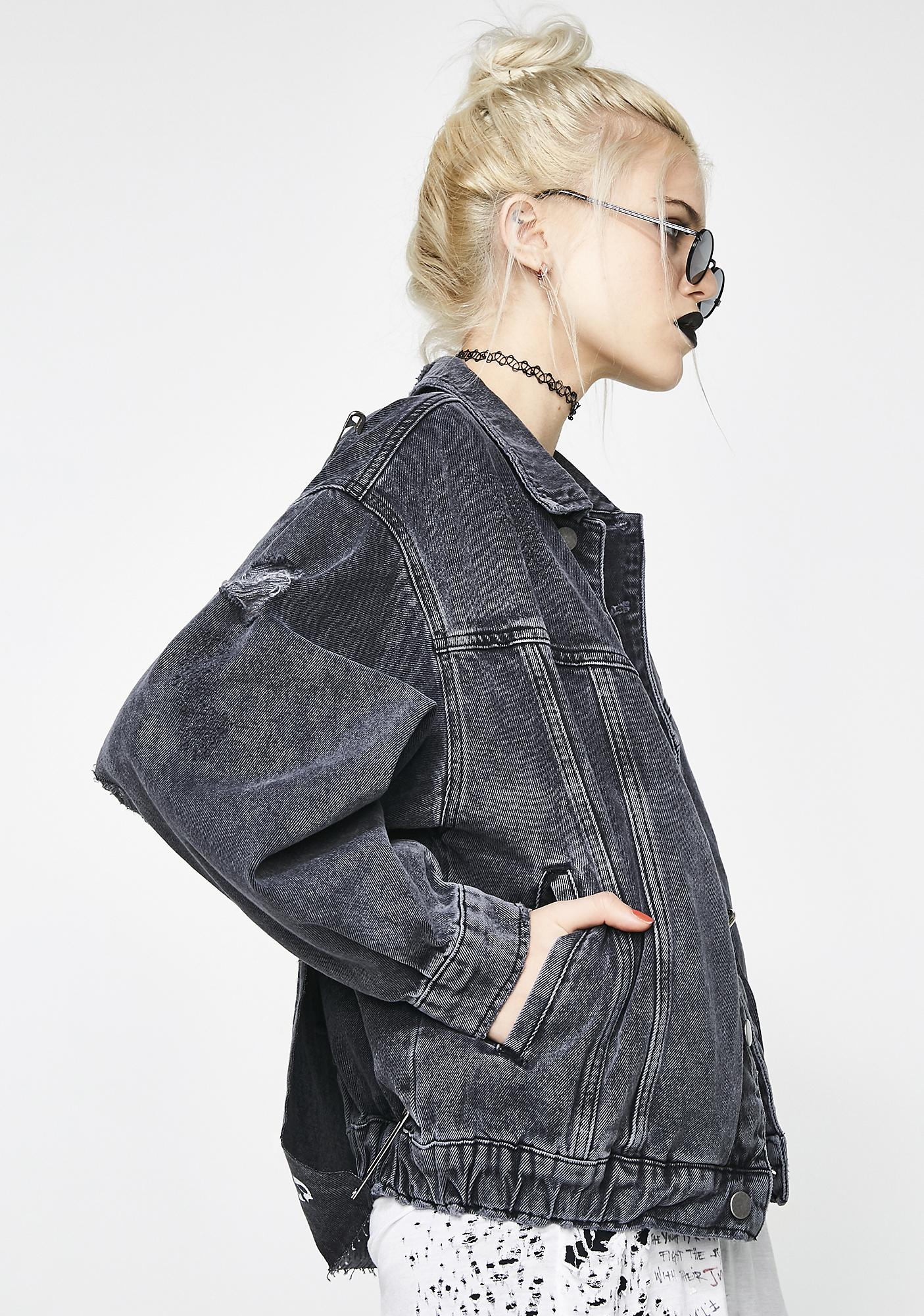 Oversized Denim Jacket by Disturbia