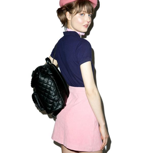 Lazy Oaf Heart Pocket Cord Skirt