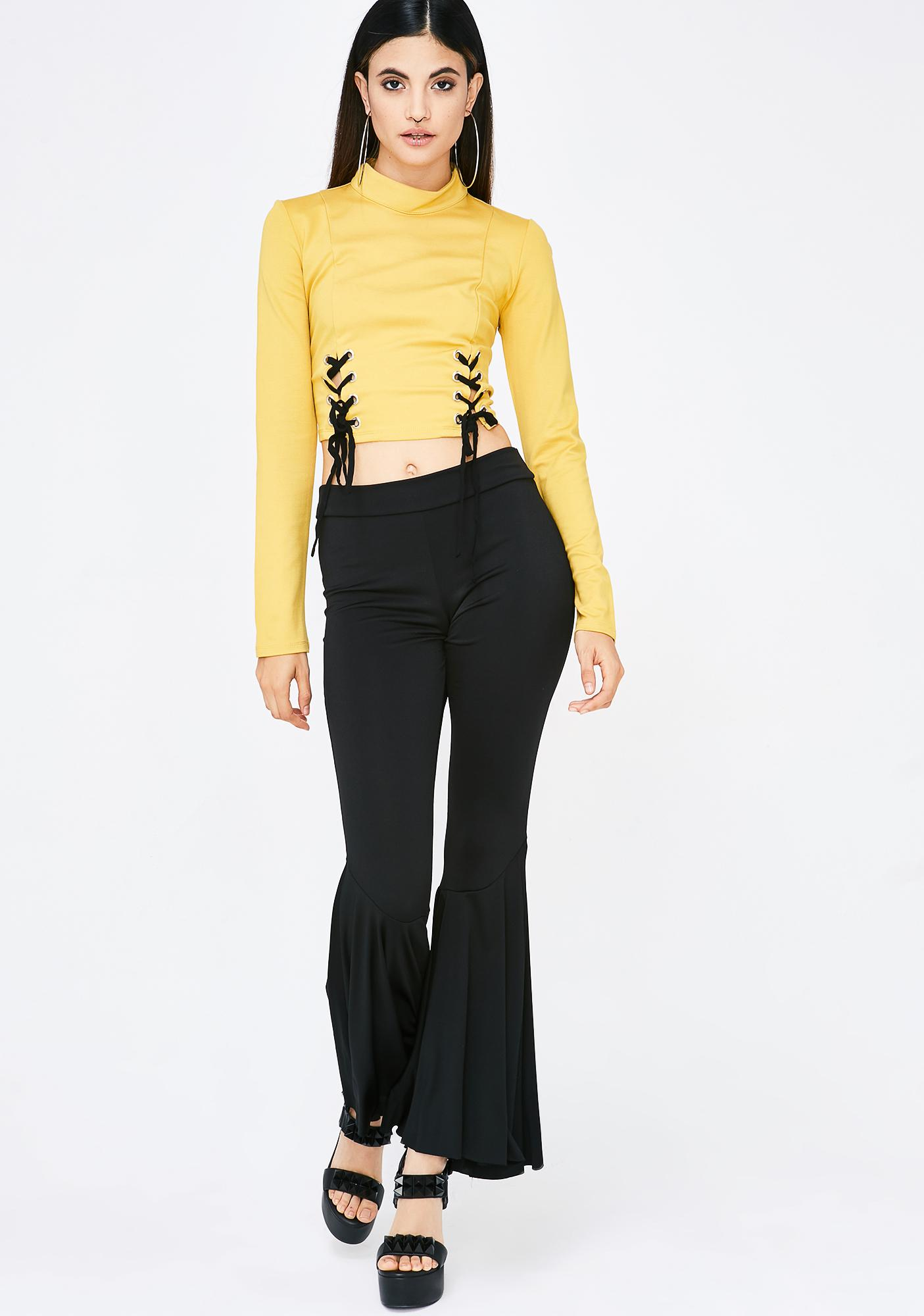 Queen Bee Lace-Up Top