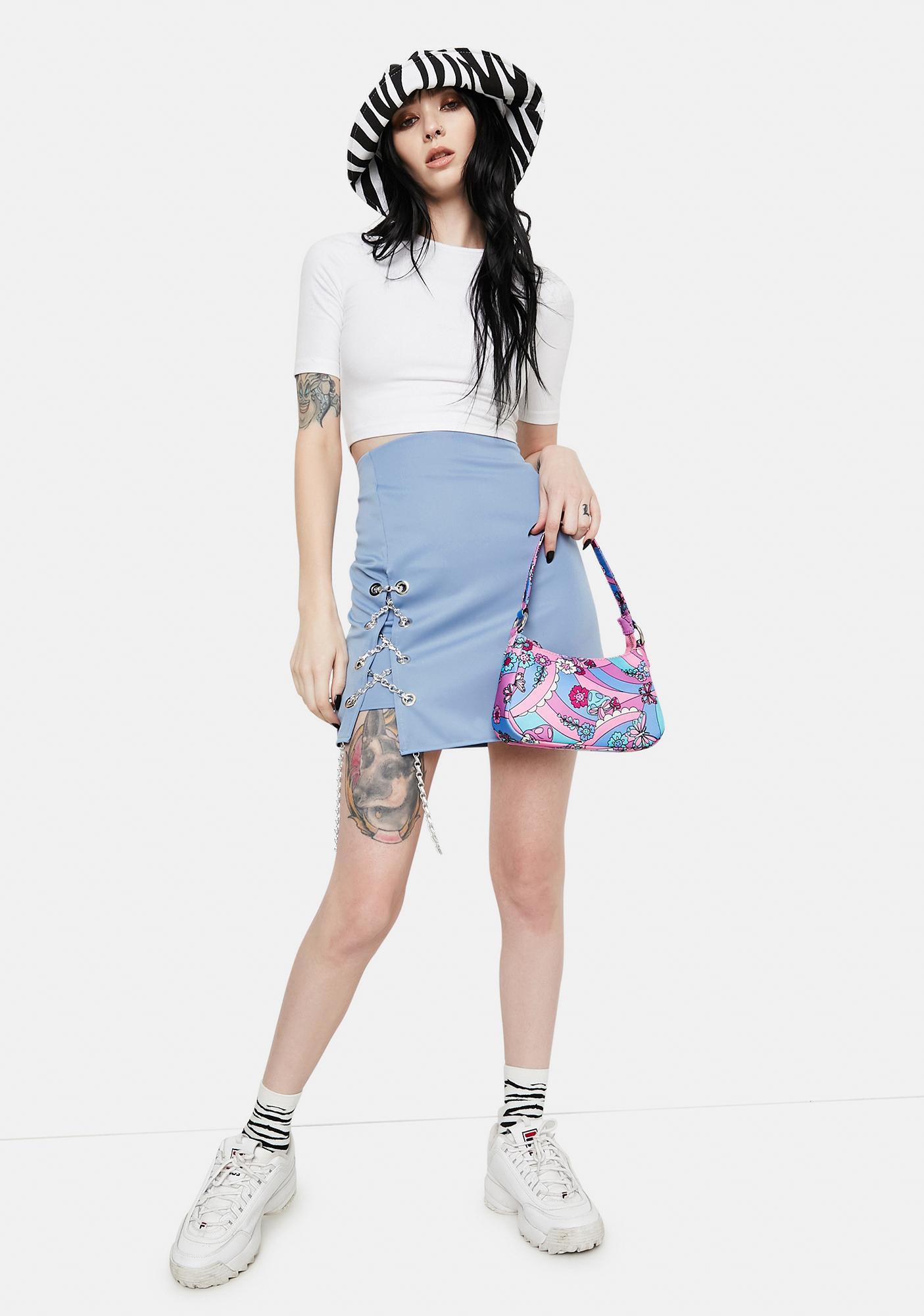 ZEMETA Chain Tie Lake Blue Skirt