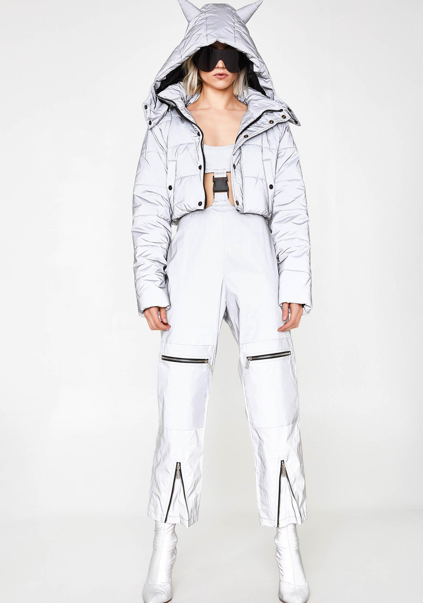 Jaded London Reflective Cut Out Cargo Jumpsuit