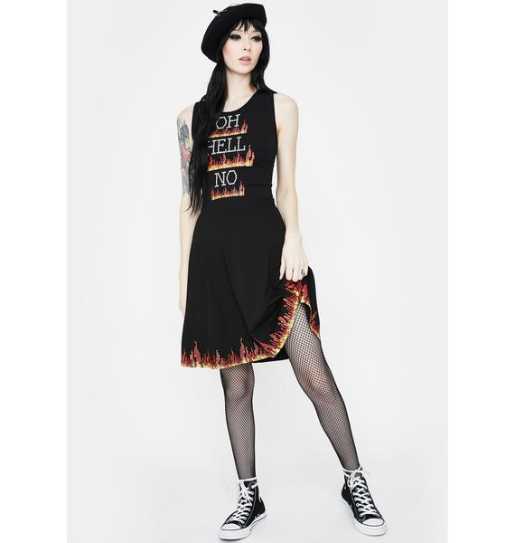 Jawbreaker Oh Hell No Pixel Skater Dress