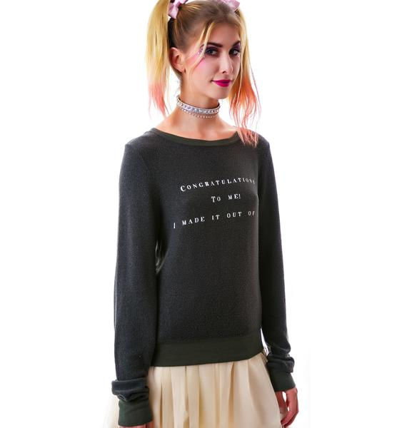 Wildfox Couture Congrat Baggy Beach Jumper