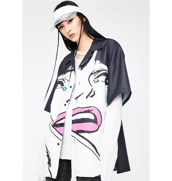 CHINATOWN MARKET Cry Button Up Shirt