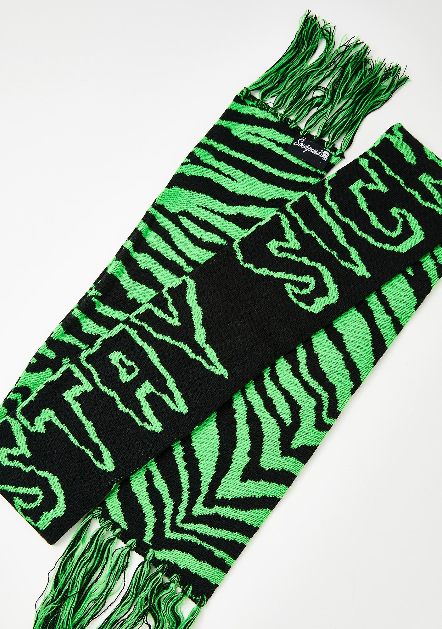 Sourpuss Clothing Stay Sick Knit Scarf