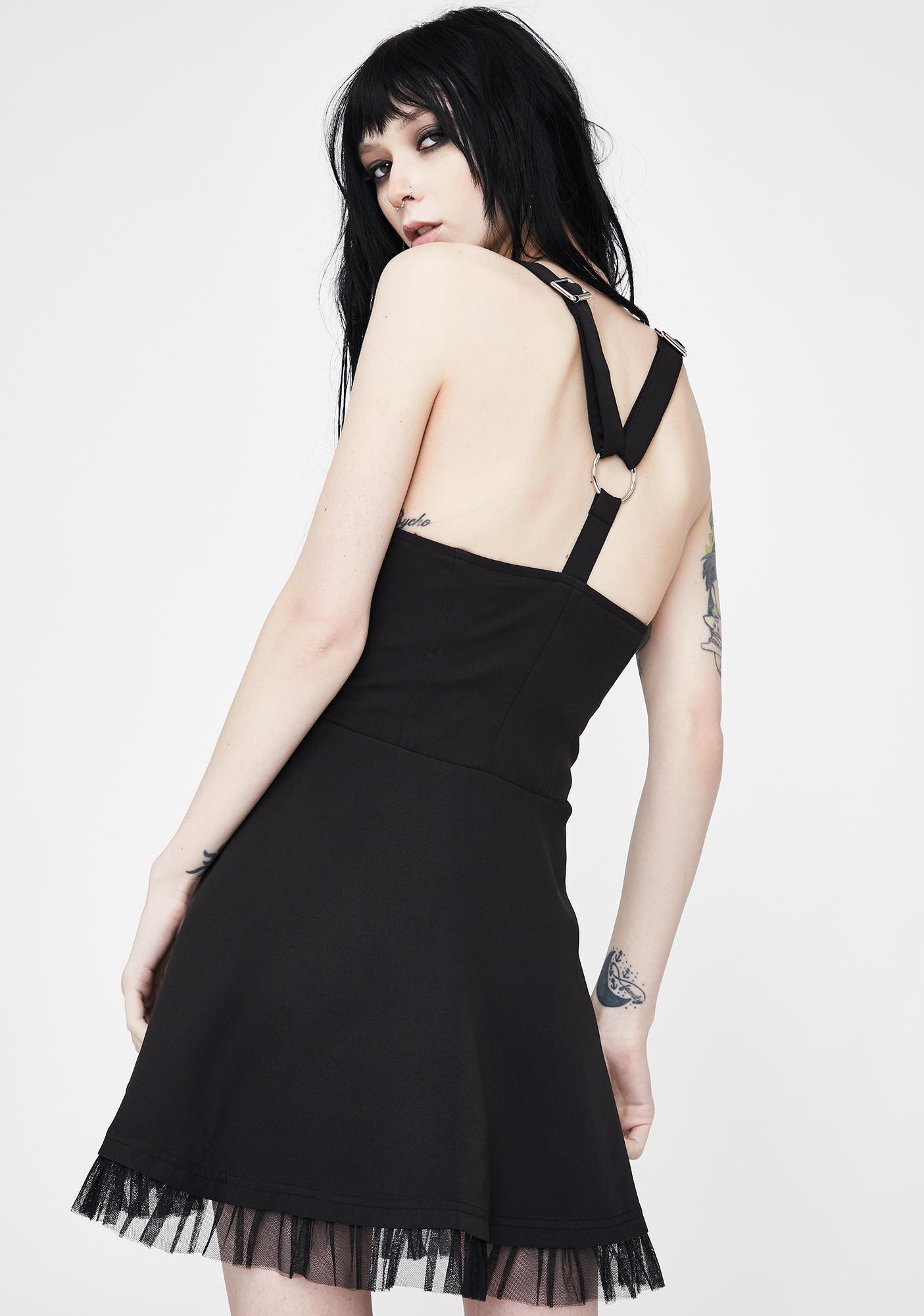 Punk Rave Zip Up Pinafore Dress