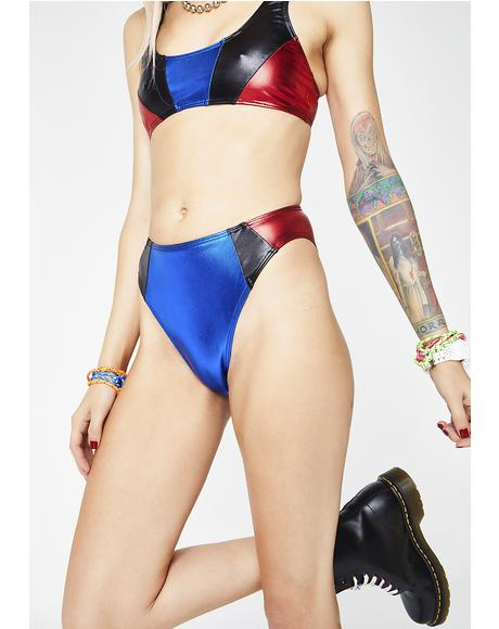 Moto Panelled Bikini Bottom