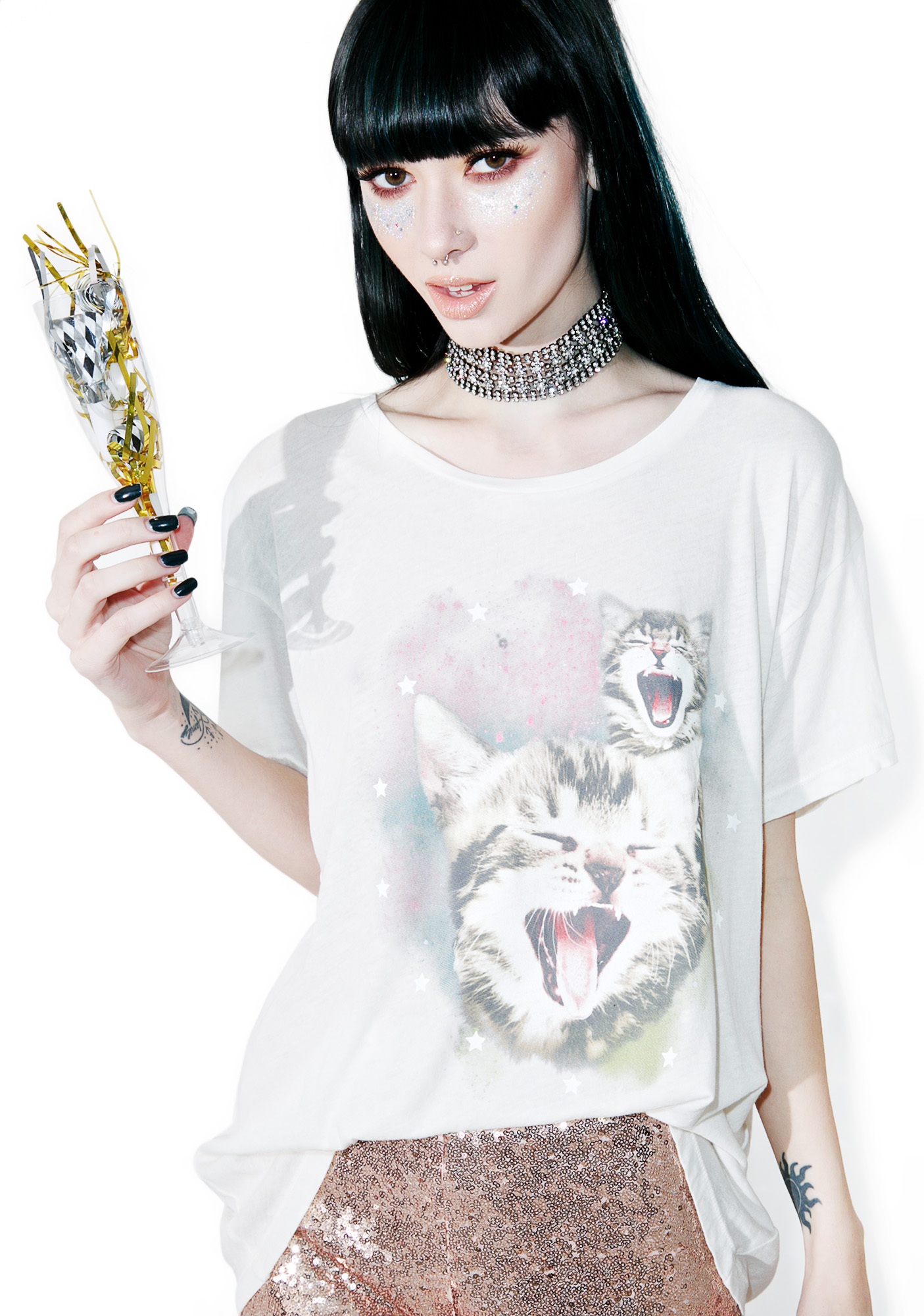Wildfox Couture Sleepy Kittens Manchester Tee