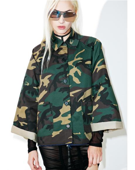 On 2 U Long Camo Jacket
