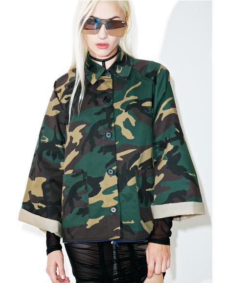 On 2 U Long Camo Jacket