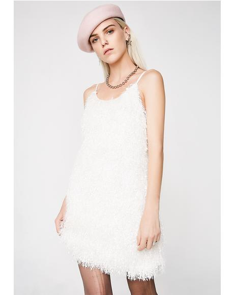 Mz Prissy Fluffy Mini Dress