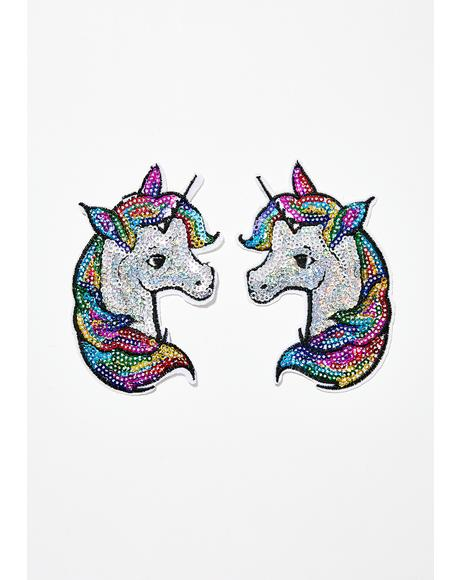 Rainbow Unicorn Nifty Nipztix Pasties