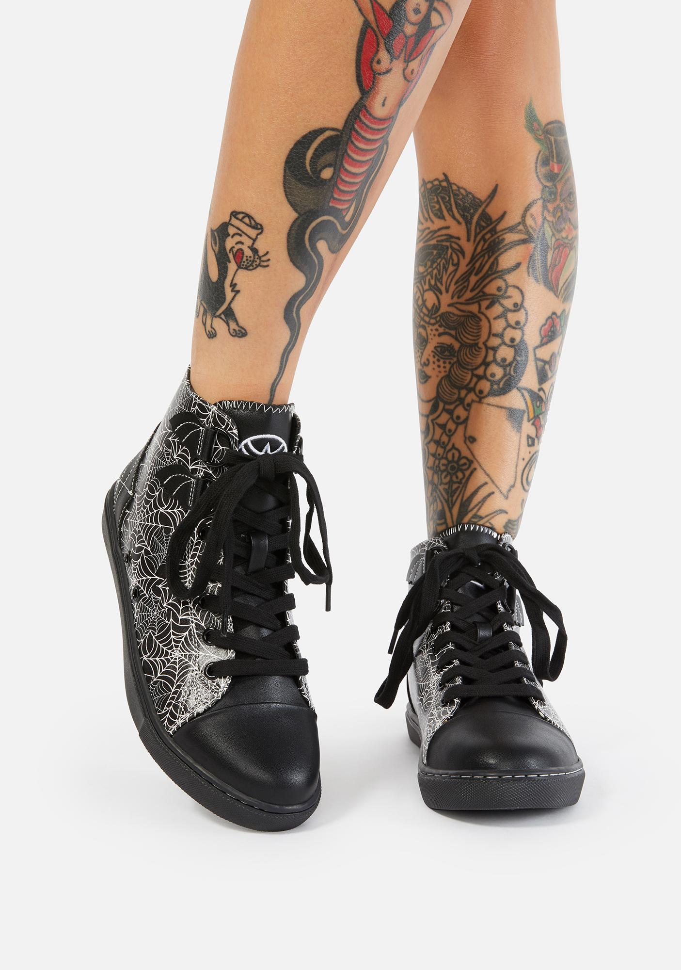 Strange Cvlt Spider Web Chelsea Ankle Boots