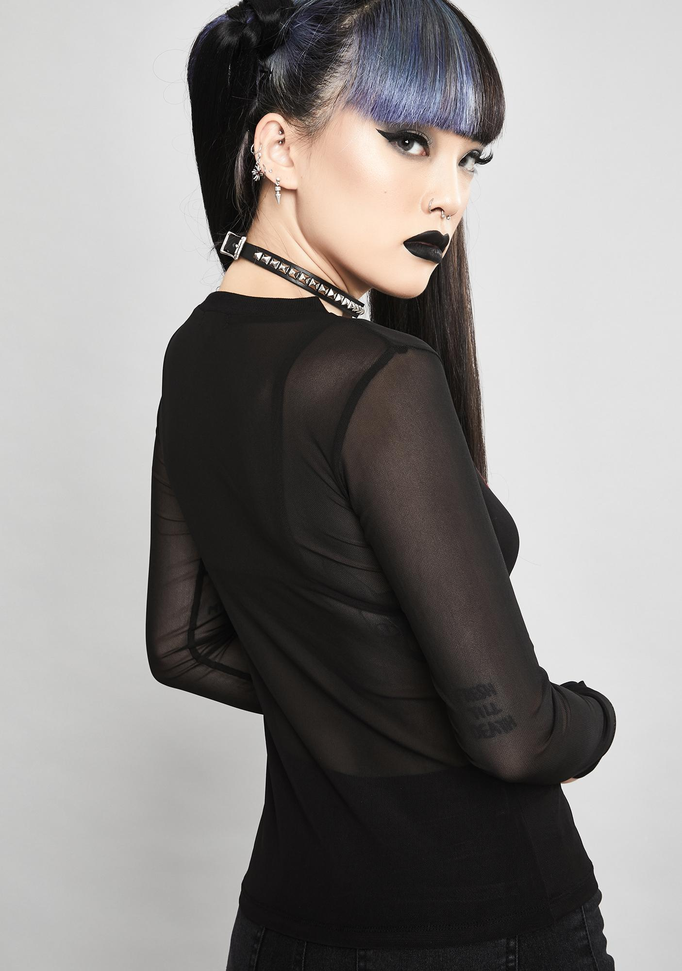 Widow Deadly Demise Mesh Top