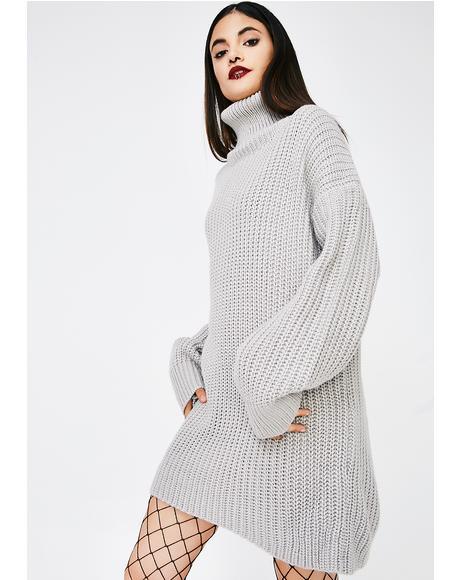 Gray Skies Sweater Dress