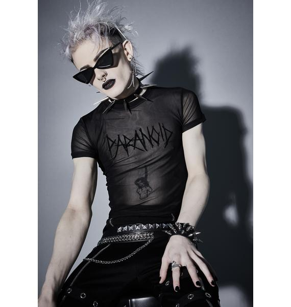 Widow Paranoid Obsessions Mesh Tee