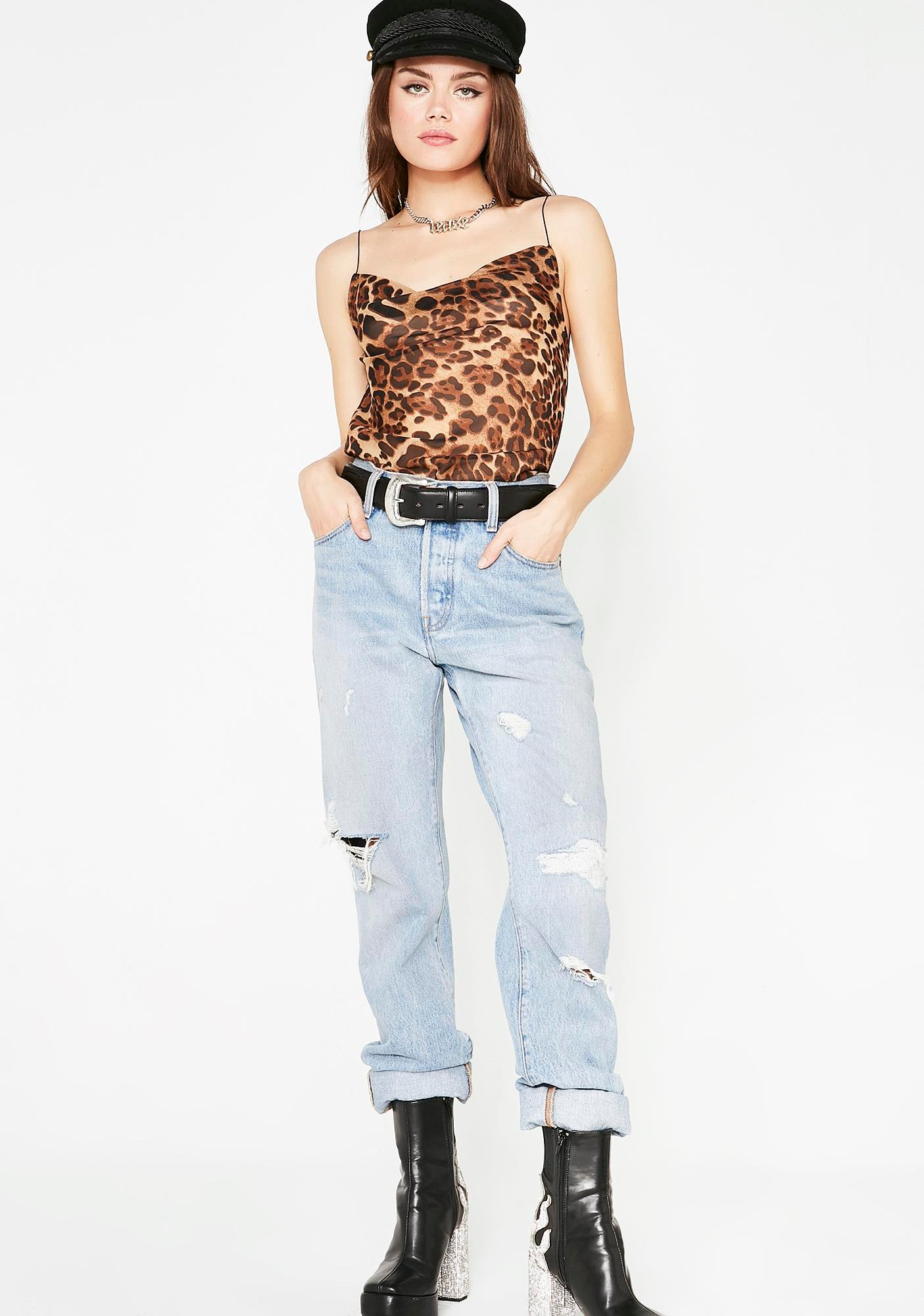 Catty Qween Leopard Top