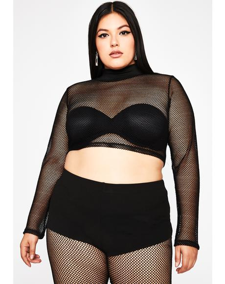 True Baddie Mood Fishnet Top