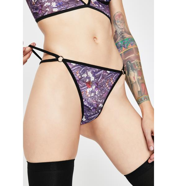Down The Garden Path Floral Thong