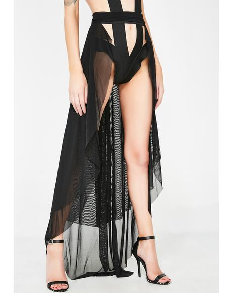 Dark Soothsayer Sheer Skirt