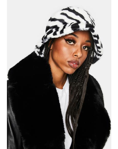 Wild Soul Faux Fur Bucket Hat