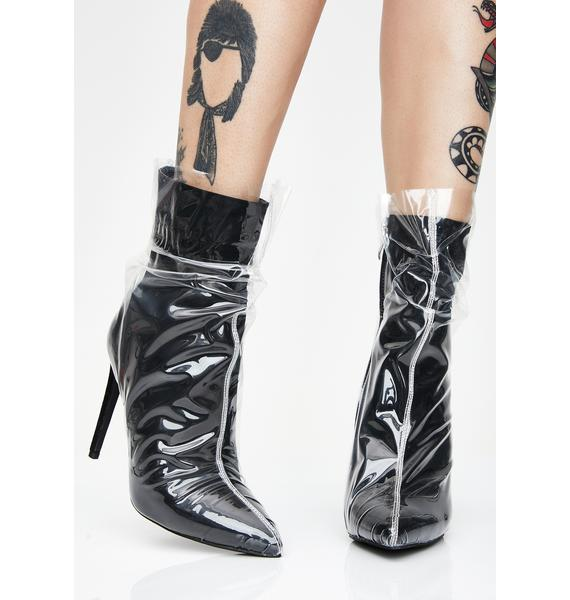 Beware The Plastics Ankle Booties