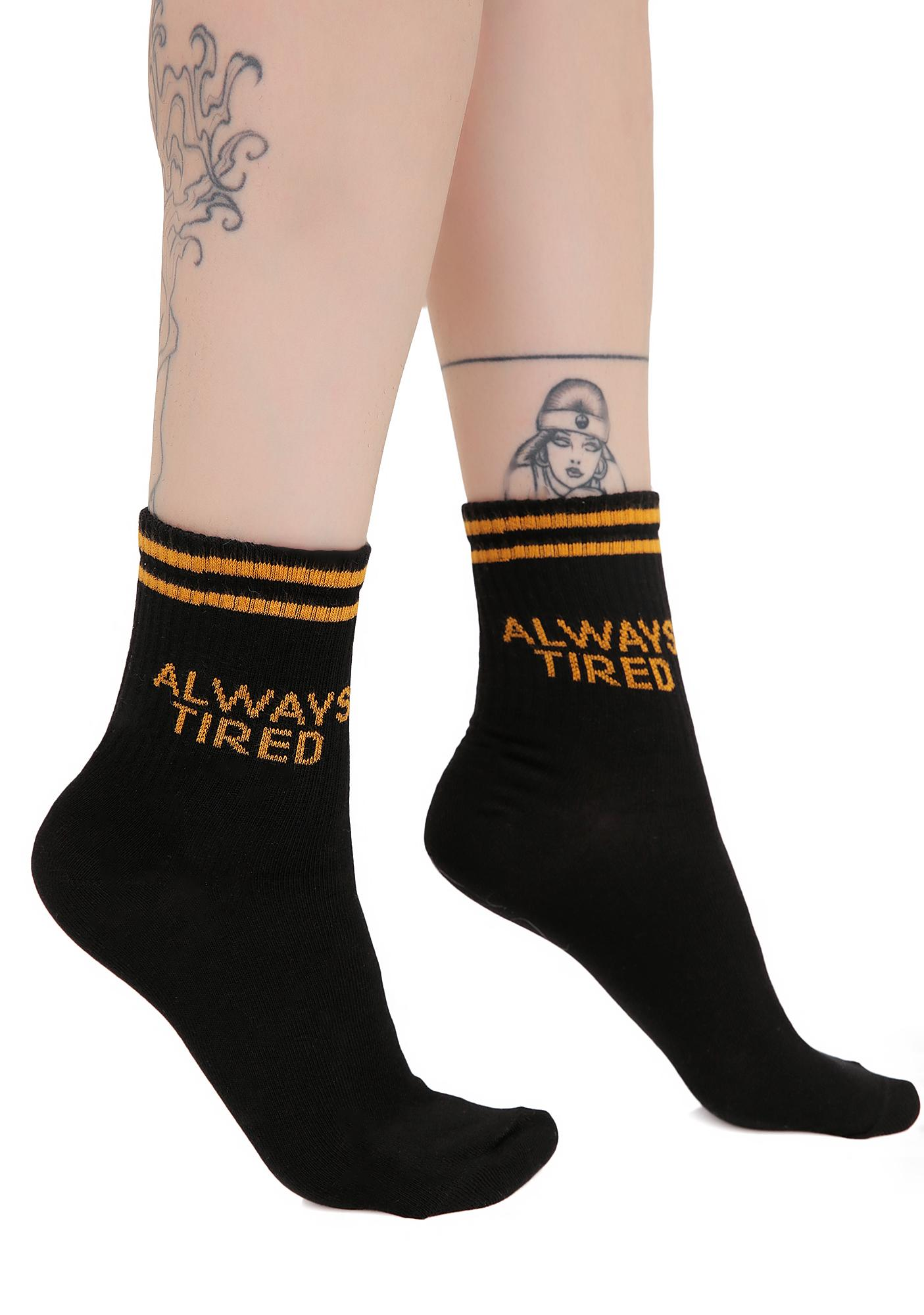 Yeah Bunny Always Tired Socks