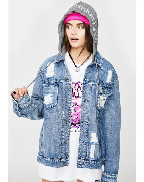Heartless Denim Hooded Jacket