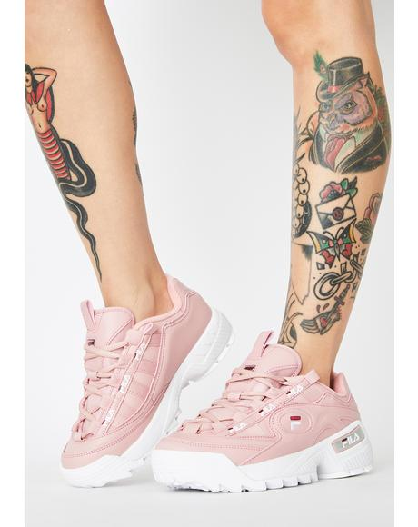 Pink D-Formation Sneakers