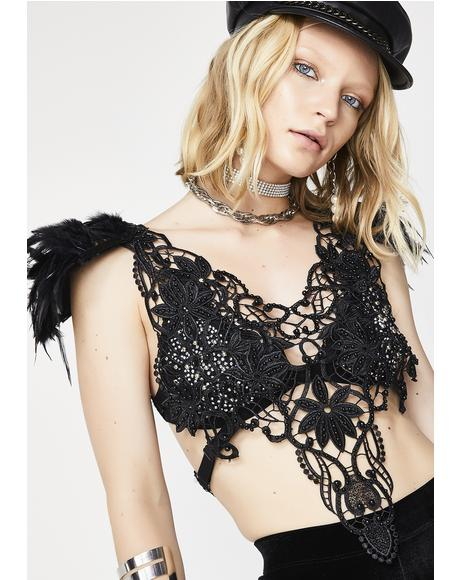 Divine Like Whoa Lace Crop