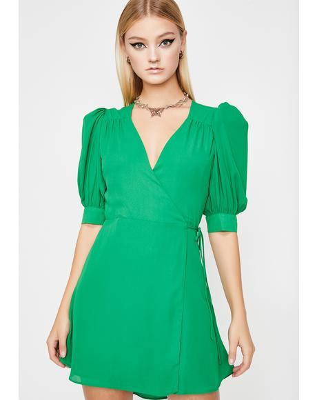 Clover Babe Goals Wrap Dress