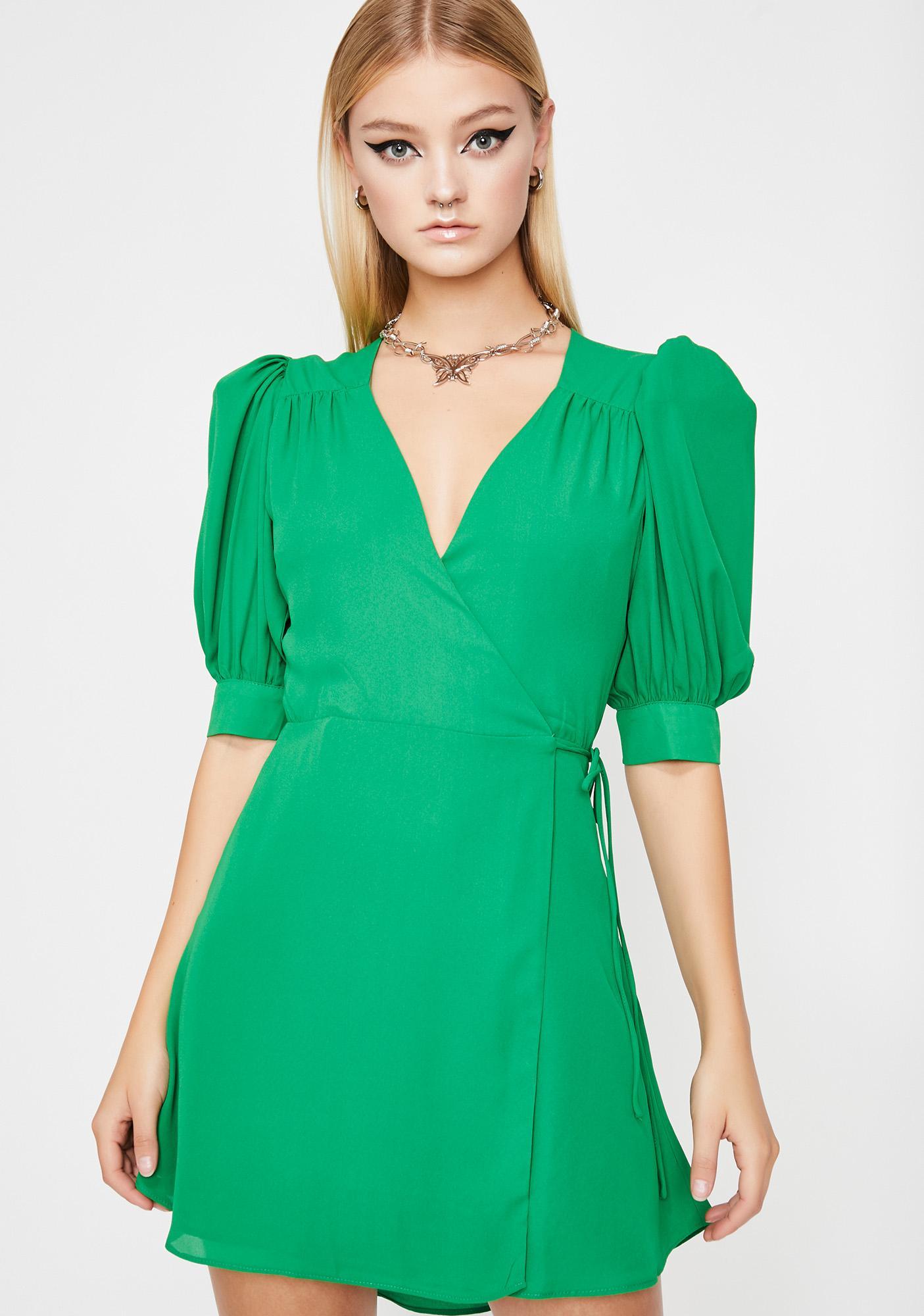 d94a069ec17e Wrap Short Sleeve Mini Dress | Dolls Kill