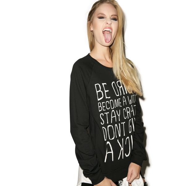 MeYouVersusLife The Motto Crew Neck Sweater