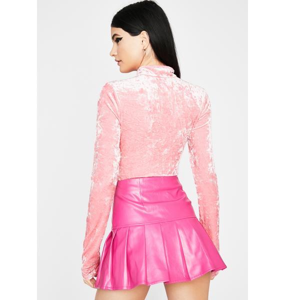 Sweet Vixen Vision Velvet Bodysuit