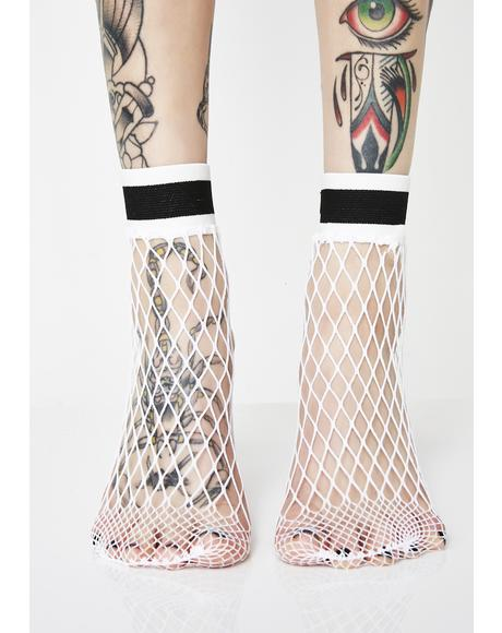 No Bad Daze Fishnet Socks