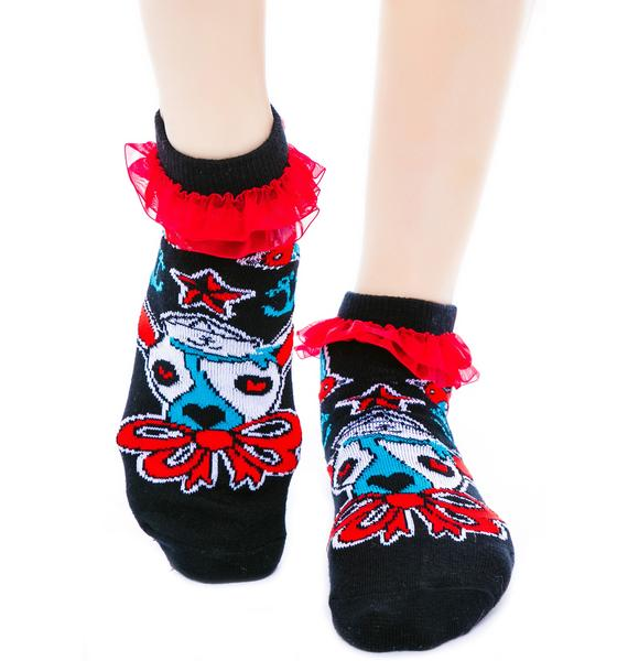 Too Fast Ahoy Ruffle Ankle Socks