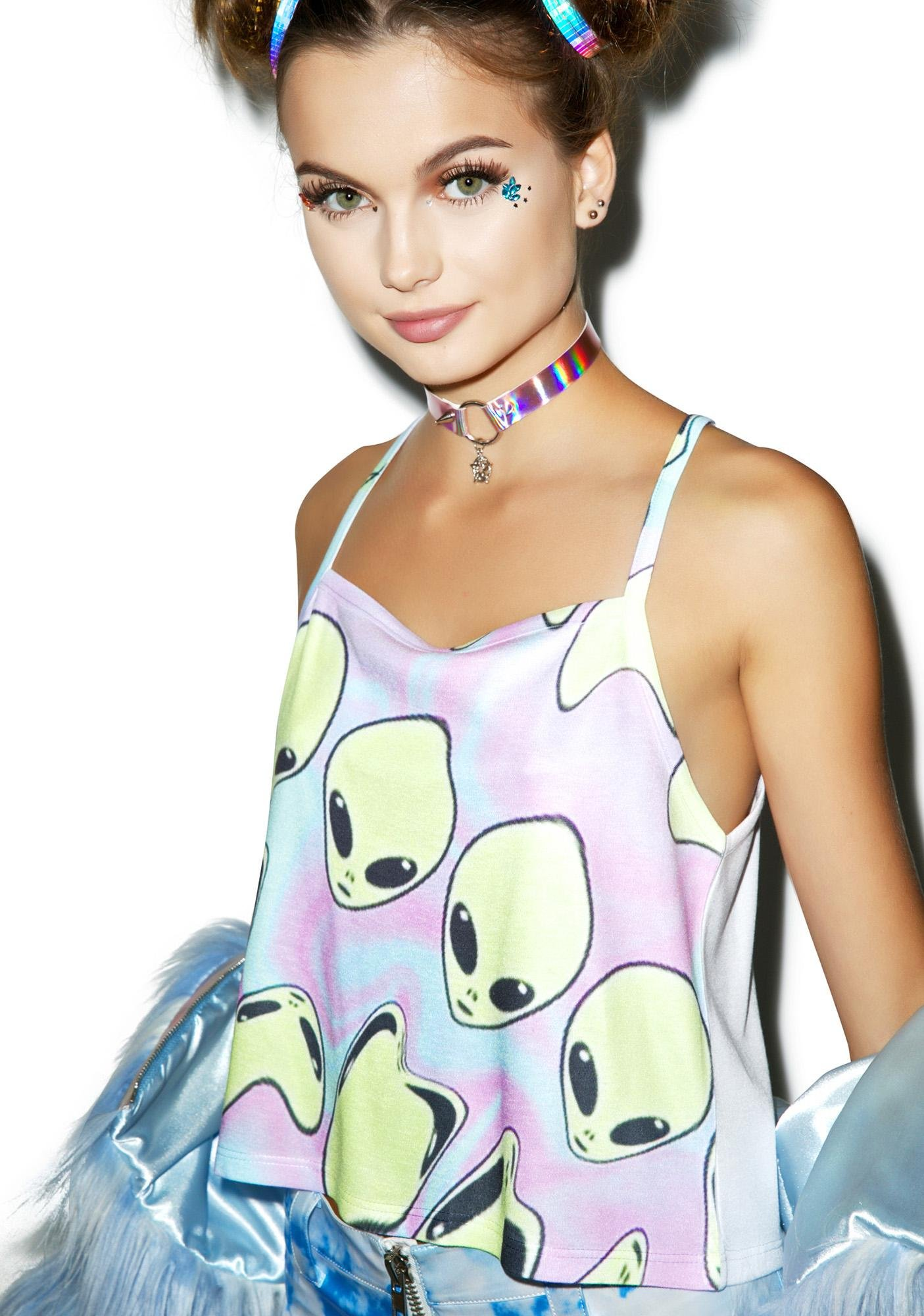 Aliens on Drugs Tank Top