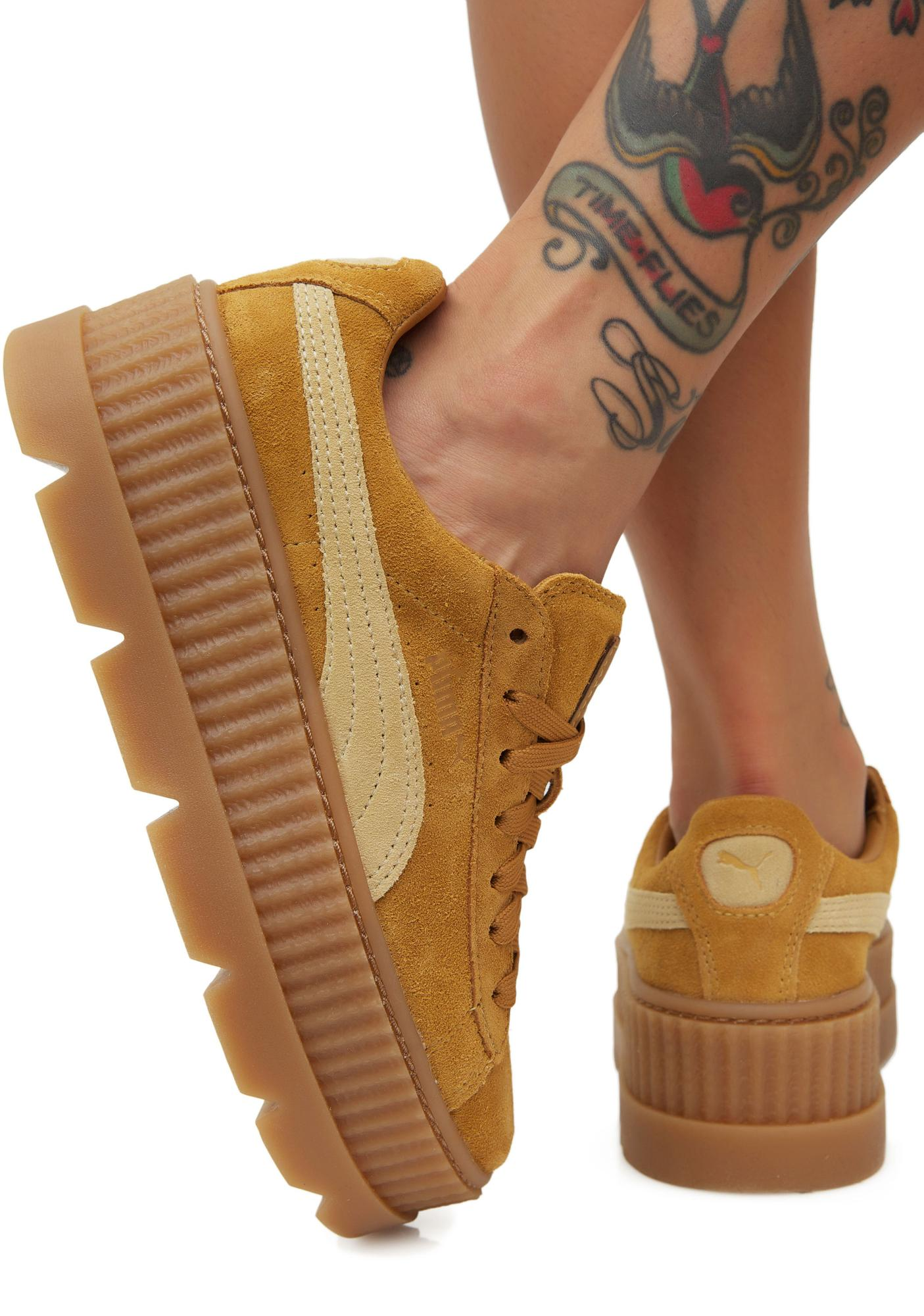 pretty nice b9539 d0d19 FENTY PUMA by Rihanna Cleated Suede Creepers