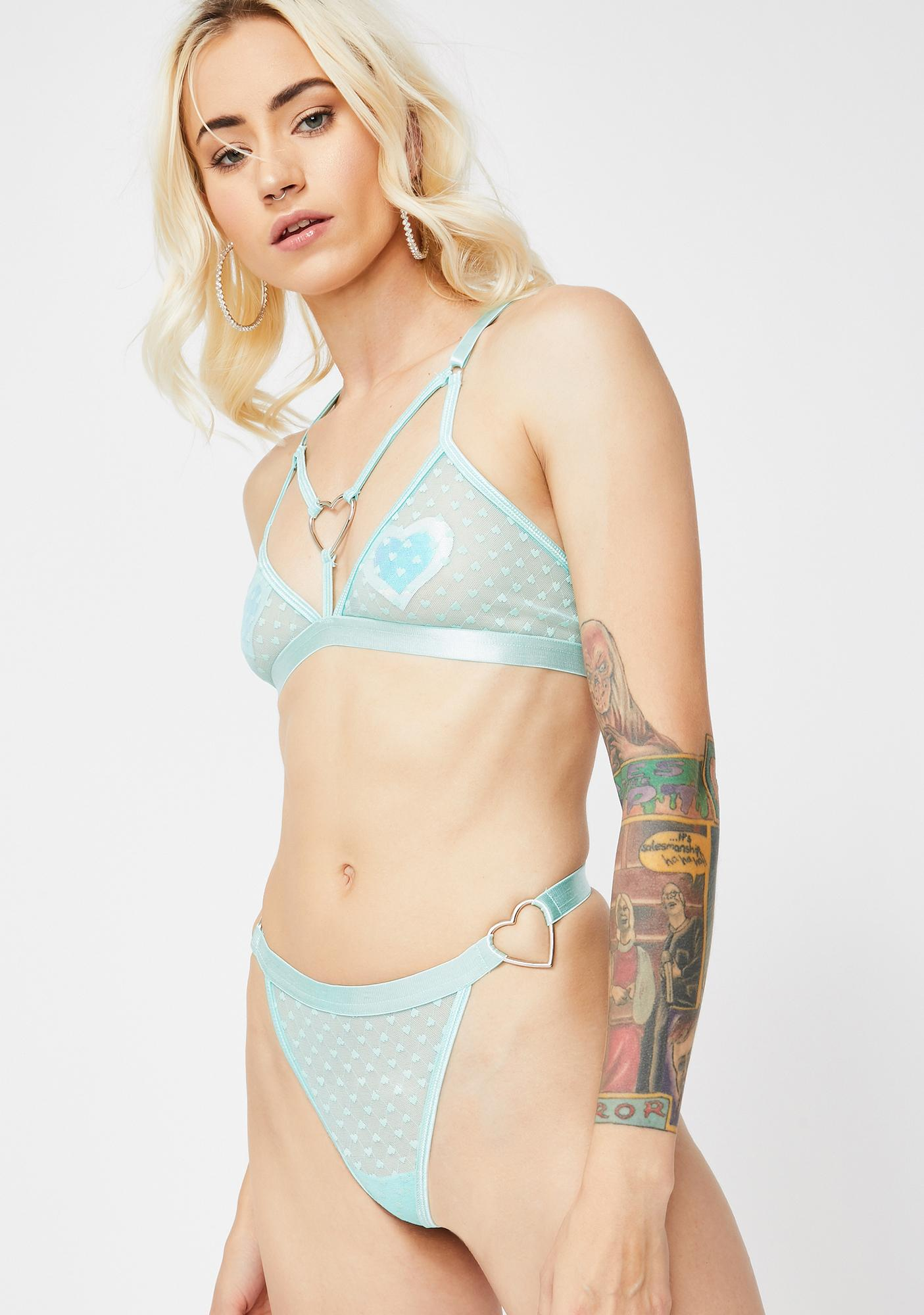 Sugar Thrillz Minty Bonbon Sheer Panty