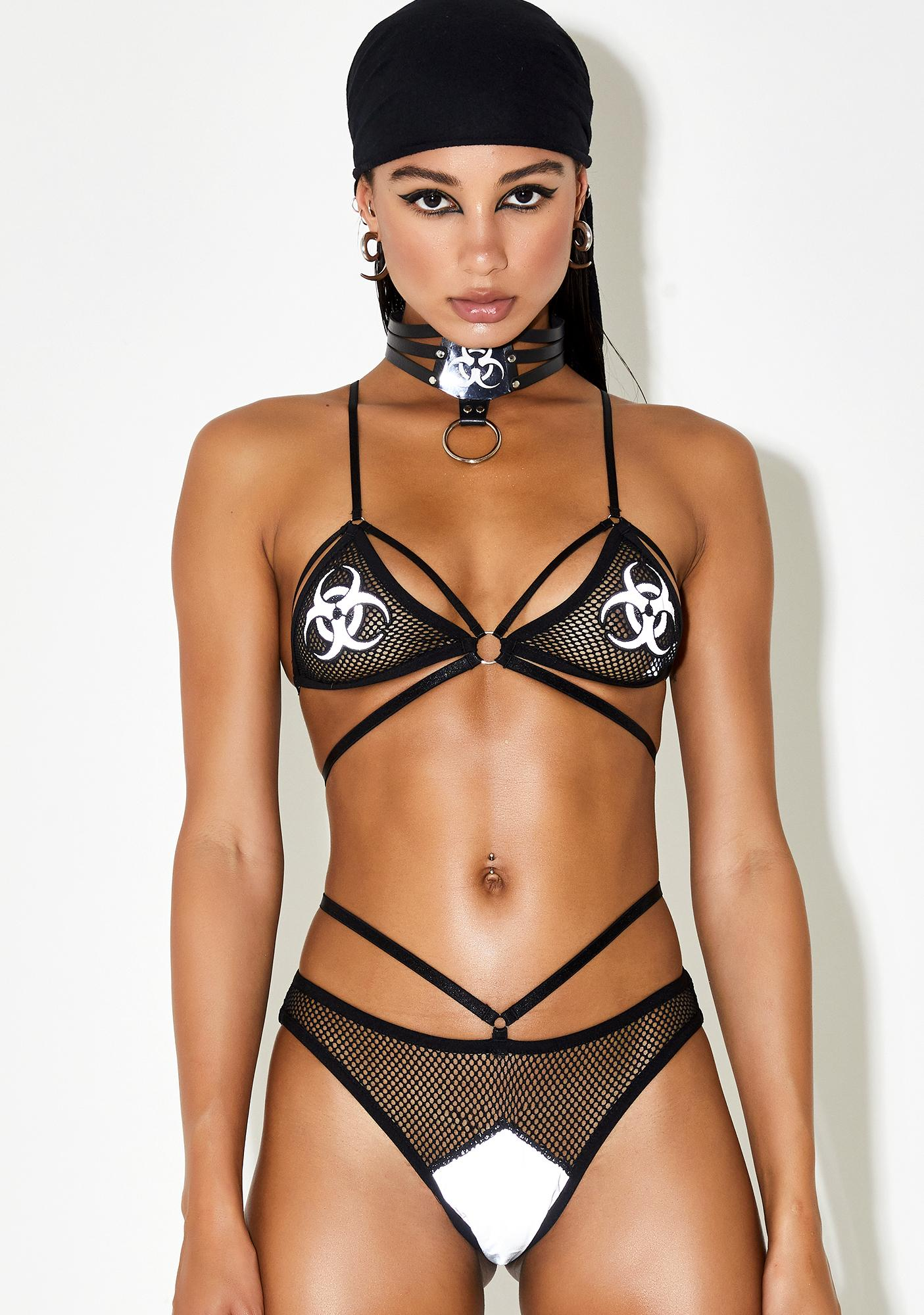 Club Exx Harmful Haze Reflective Panties