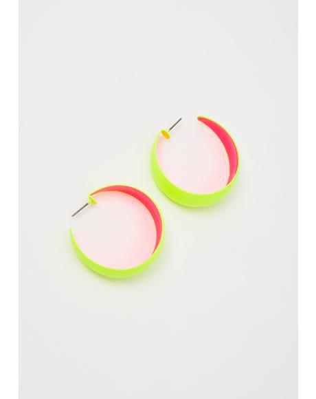 Double Or Nothin' Neon Earrings