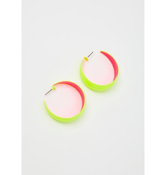 Double Or Nothin' Neon Earrings