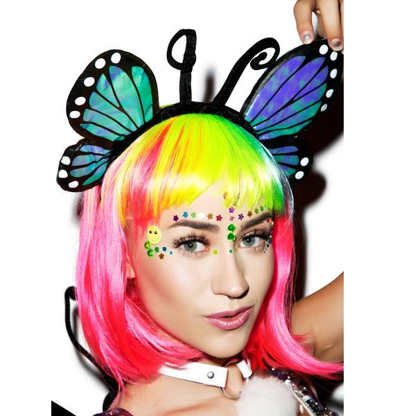 U Give Me Butterflies Headband